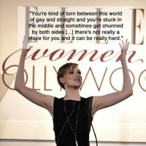 Actress Evan Rachel Wood knows all about bi-erasure.
