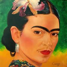 Painting of Frida Kahlo.