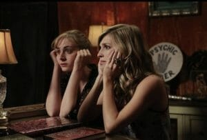 Heidi (Amanda Lund) and Angelica (Maria Blasucci) of Ghost Ghirls.