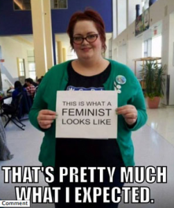 Kelly Martin Broderick — anti-feminist, fat-shaming meme.