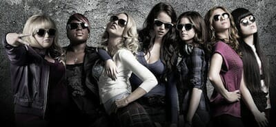 The ladies of Pitch Perfect, including an out lesbian.