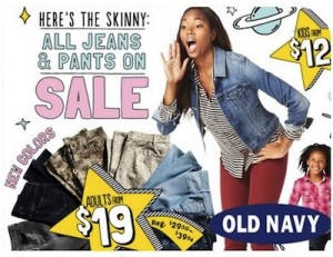 """Old Navy """"Here's the Skinny"""" ad"""