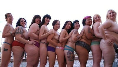 Photo of women embracing their body types.