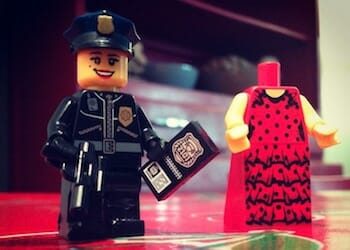Image of Lego's female police officer.