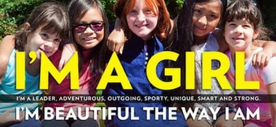 Campaign poster for NYC Girl's Project featuring group of girls.