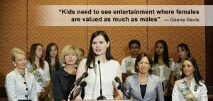 Geena Davis Tells it like it is