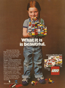 In 1981, LEGO ads were more egalitarian.