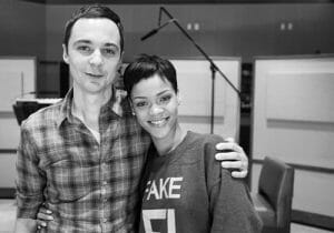 Rihanna voices Home heroine Tip, and Jim Parsons voices Tip's alien friend, Oh.