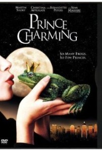 "Prince Charming movie poster with caption ""so many frogs, so few princes"""