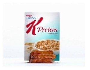 special k cereal box crushing pile of toast