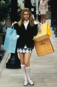 Cher, Alicia Silverstone's character in the movie Clueless. Cher is famous for her love of shopping.