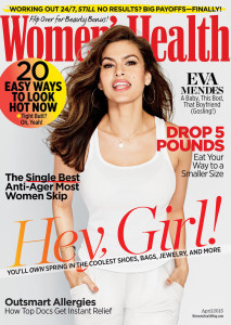 April 2015 cover of Women's Health magazine.