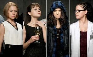 Tatiana Maslany as multiple clones.