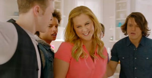 """A screenshot from Amy Schumer's new music video, """"Girl, You Don't Need Makeup."""""""