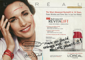 l'oreal anti-aging ad