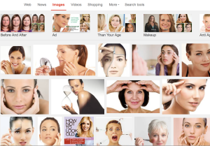 """A simple Google Images search of """"look younger"""" brings up ONLY pictures of females. Wow."""