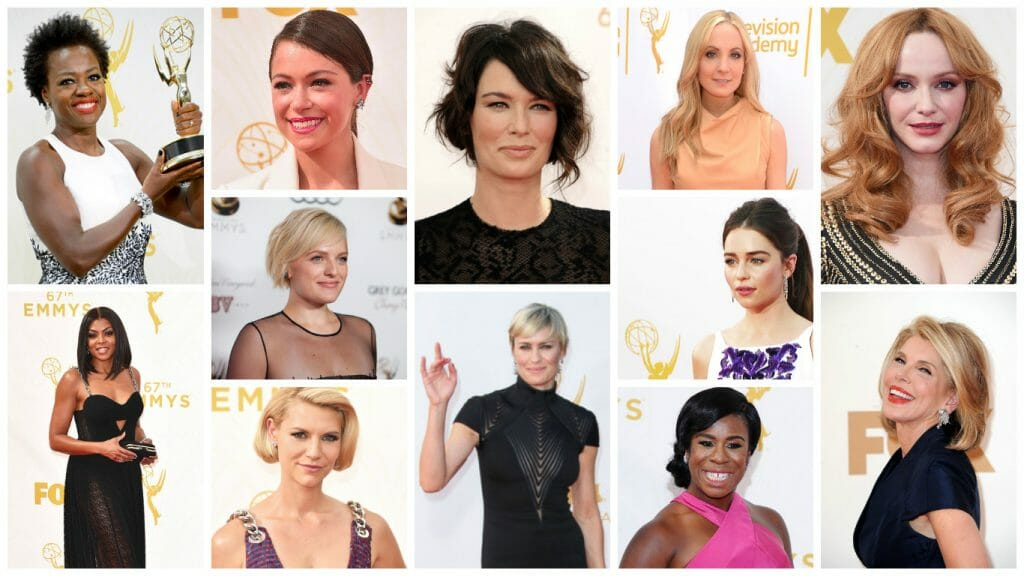 Pictured: All nominees for Best Lead/Supporting Actress in a Drama Series.